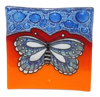 Butterfly (blue)  Medium Plate