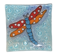 Dragon Fly (green)  Medium Plate