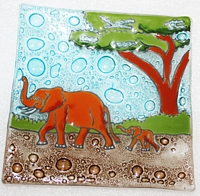 Asian Elephant  Medium Plate