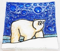 Polar Bear (blue)  Medium Plate