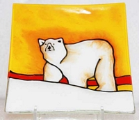 Polar Bear (red)  Medium Plate