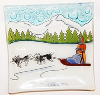 Sled Dogs  Medium Plate