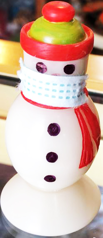Tagua Covi-19 Snow Men with Mask