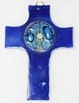 Medium Fused Glass Cross