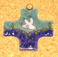 Small Fused Glass Cross / Ornament