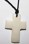 Tagua Cross Necklace White