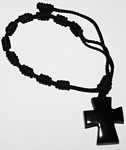 Tagua Cross Bracelet Black