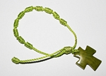 Tagua Cross Bracelet Lime Green
