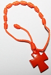 Tagua Cross Bracelet  Orange