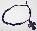 Tagua Cross Bracelet  Purple