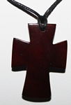 Tagua Cross Necklace Brown