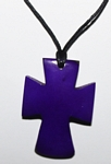 Tagua Cross Necklace Purple