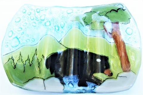 Black Bear Soap Dish