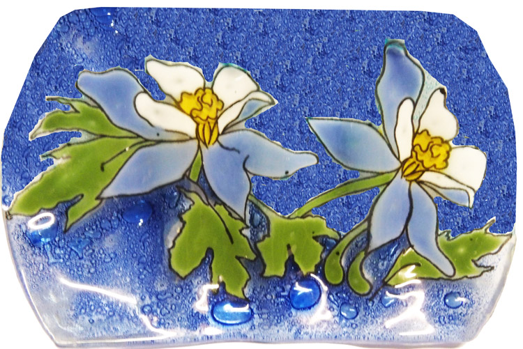 Blue Columbine Soap Dish