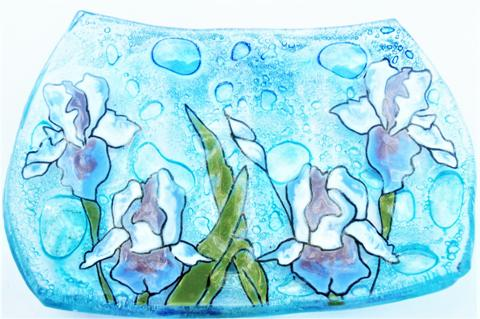 Iris Flower Soap Dish