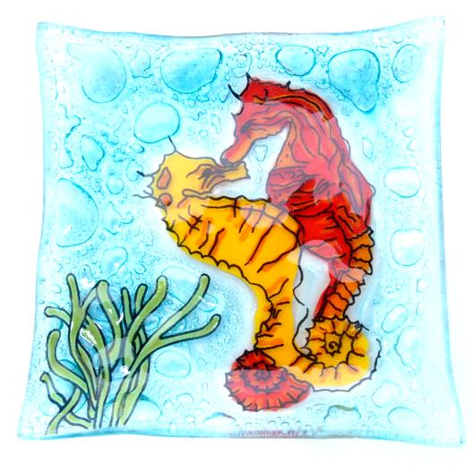 Color Sea Horse Dish
