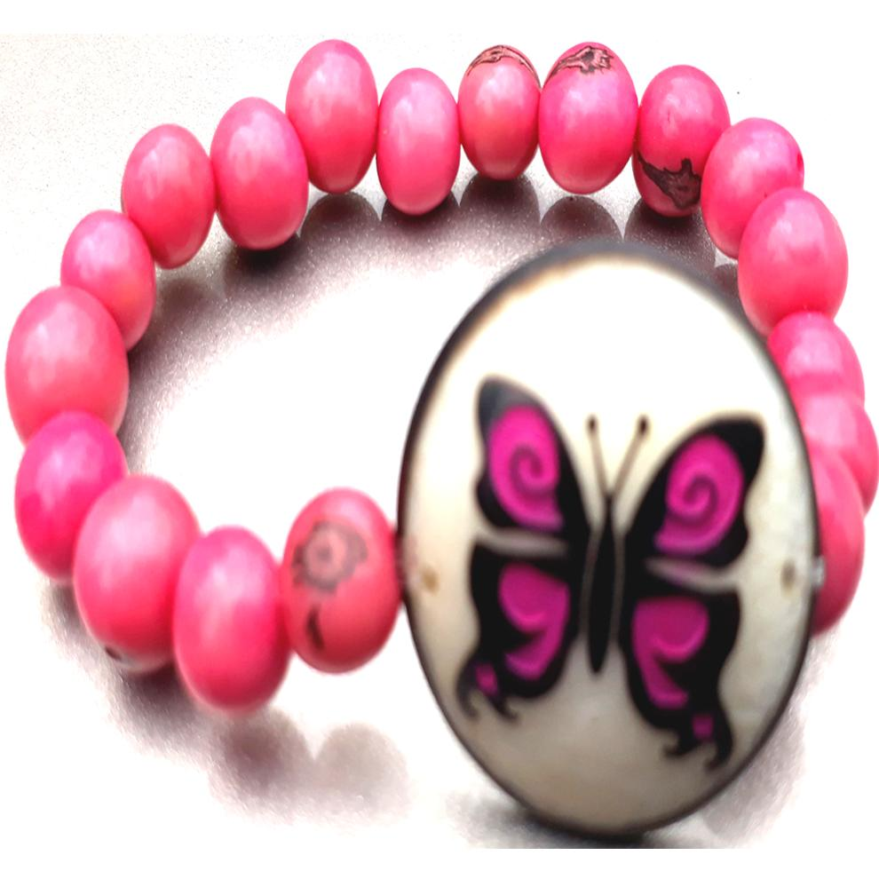 Butterfly Bracelate  Made with Tagua