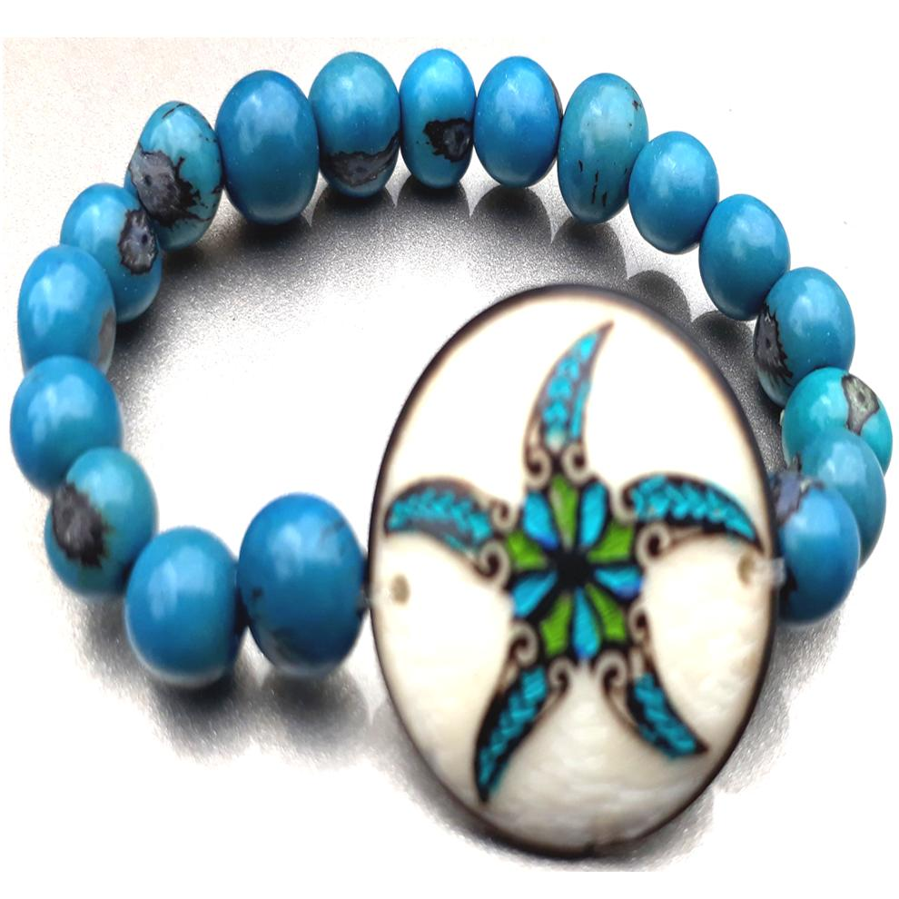 Star Fish Bracelate  Made with Tagua