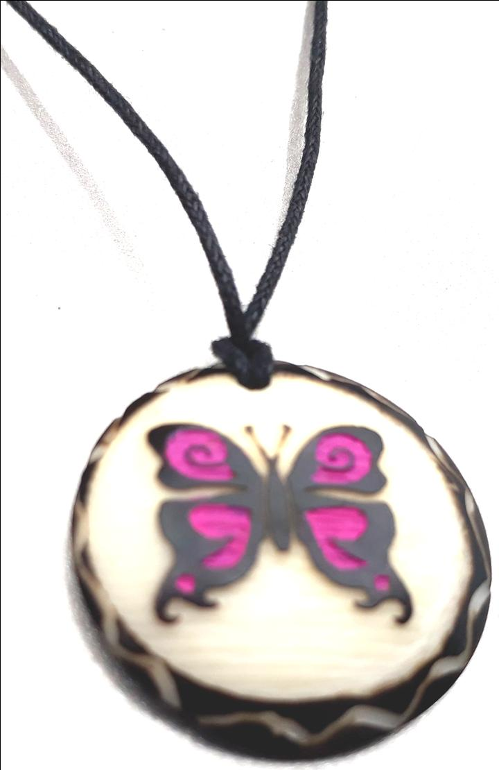 Butterfly Necklace  Made with Tagua