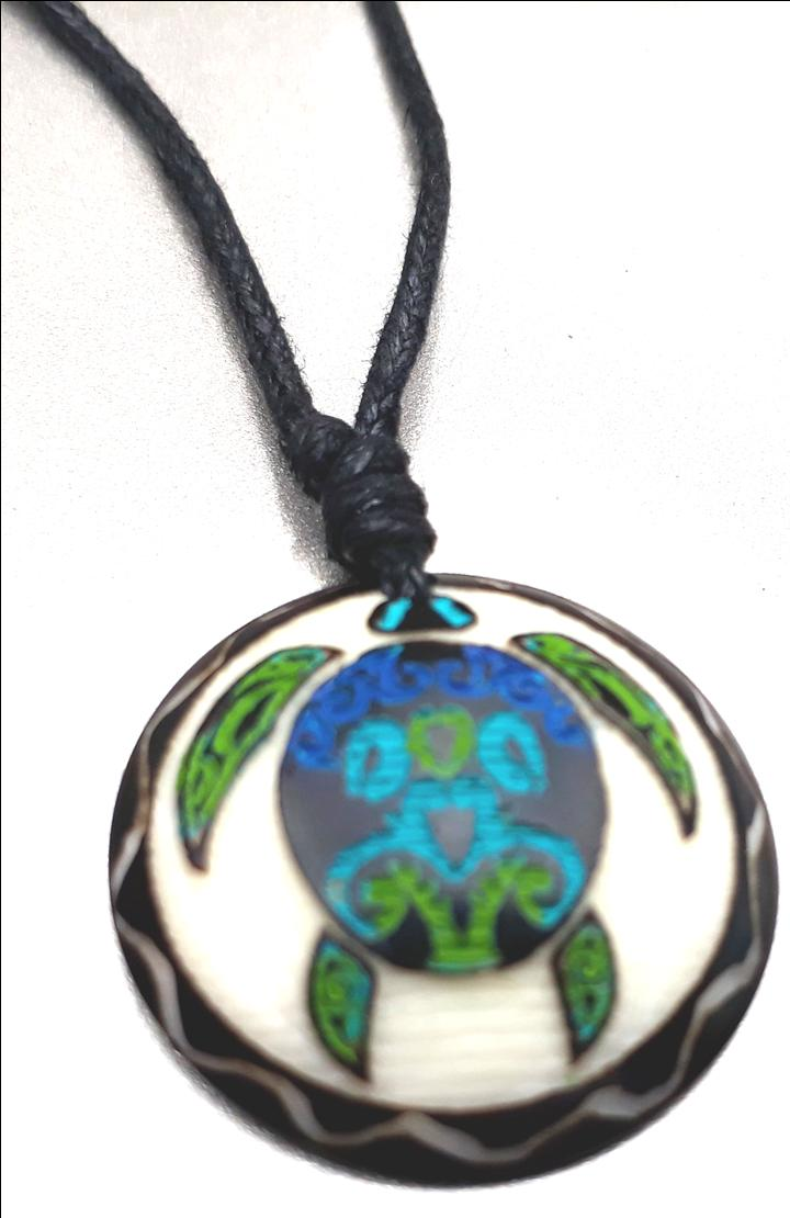 Sea Turtle Necklace  Made with Tagua