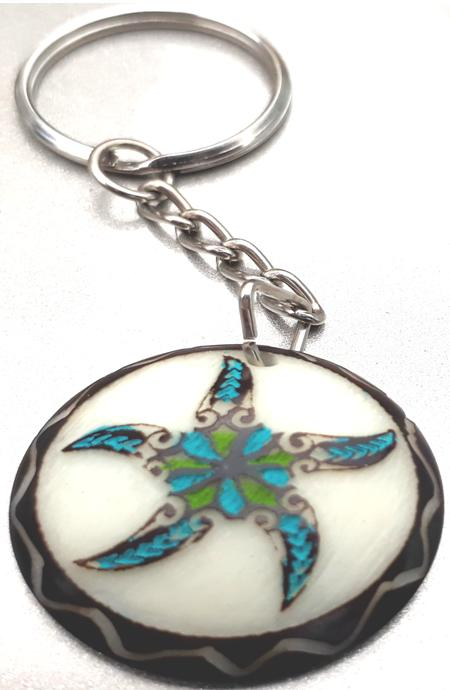 Star Fish Tribal Tagua Key Chain