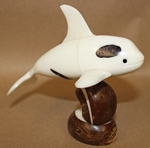Medium Orca Whale Tagua Carving