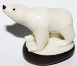 Large Polar Bear Tagua Carving