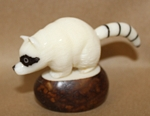 Raccoon Tagua Carving