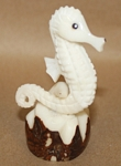 Sea Horse Tagua Carving