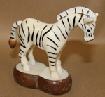 Medium Zebra Tagua Carving