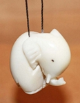 Small Elephant Tagua Ornament