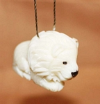 Lion Tagua Ornament