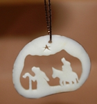 Slice Christmas Scene Tagua Ornament