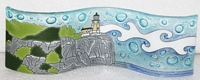 Lighthouse Split Rock  Small Wavy Glass