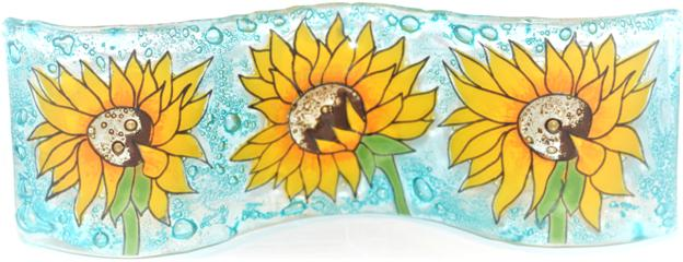 Sun Flower Small Wavy Glass