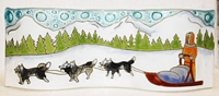 Sled Dogs Small Wavy Glass