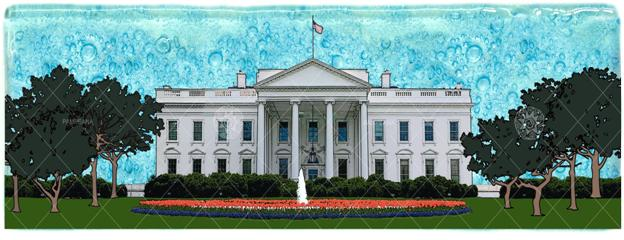 White House Small Wavy Glass