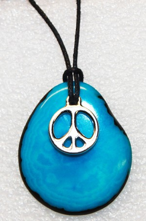 Charm Necklace Peace Sign
