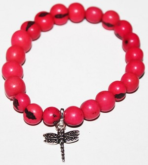 ASAI (ACAI) Bracelet With Dragon Fly Charm