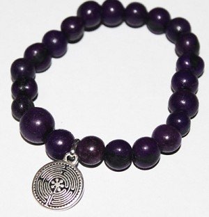 ASAI (ACAI) Bracelet With Small Labyrinth Charm