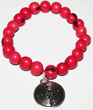 ASAI (ACAI) Bracelet With Large Labyrinth Charm