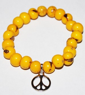 ASAI (ACAI) Bracelet With  Peace Sign Charm