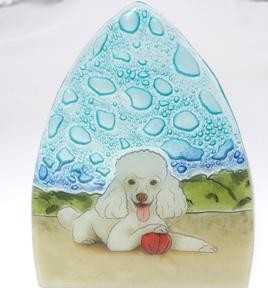 Poodle Dog Glass Nightlight
