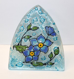 Forget me Not Glass Night Light