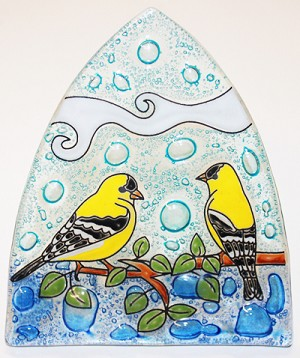 Goldfinch Glass Night Light