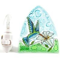 Hummingbird Glass Night Light