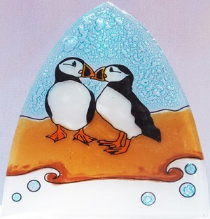 Puffin Glass Night Light