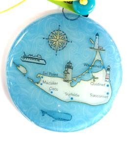 Nantuket Island Map Ornament