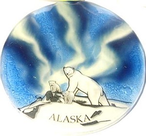 Northern Lights Polar Bear Ornament