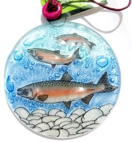 Spawning Salmon Ornament